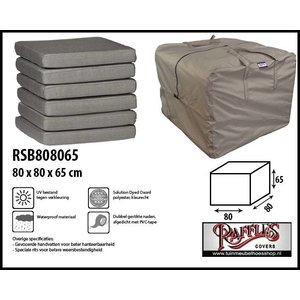 Tas voor loungekussens, 80 x 80 H: 65 cm