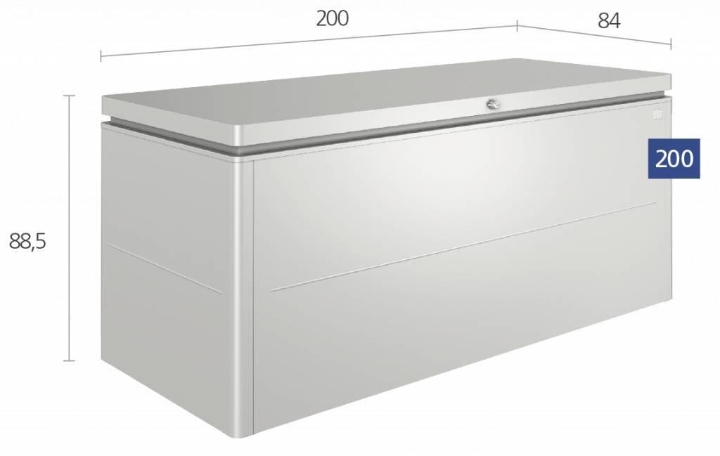 Grote Opbergkist Loungekussens.Grote Kist Voor Loungekussens 200 X 84 Cm Tuinmeubelhoesshop
