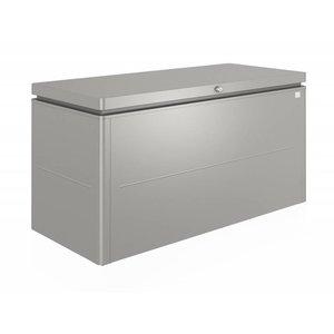 Grijze Biohort loungebox, 160 x 70 H: 83,5 cm