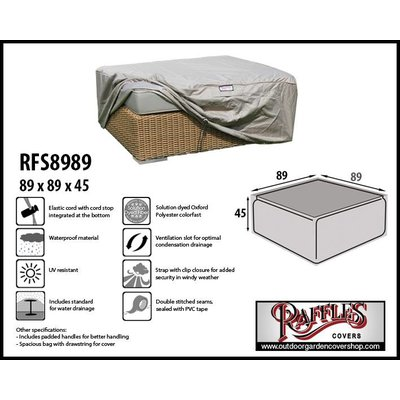 Raffles Covers Loungetafel afdekhoes 89 x 89 H: 45 cm
