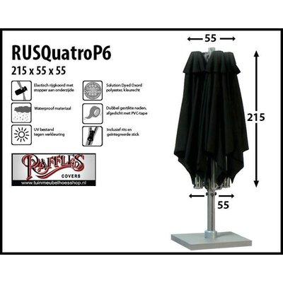 Raffles Covers P6 horecaparasolhoes met 4 doeken H: 215 x 55 cm