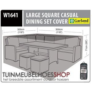 Hoes voor lounge dining set, 300 x 300 H: 71 cm