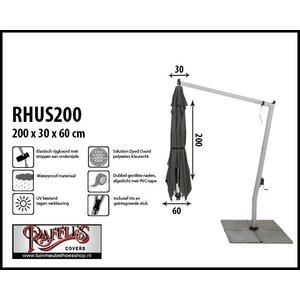 Hoes voor een hangparasol, H: 200 cm