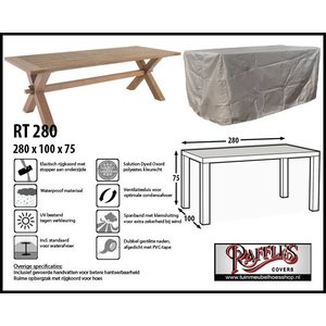 Buitenhoes tafel, 280 x 100 H: 75 cm