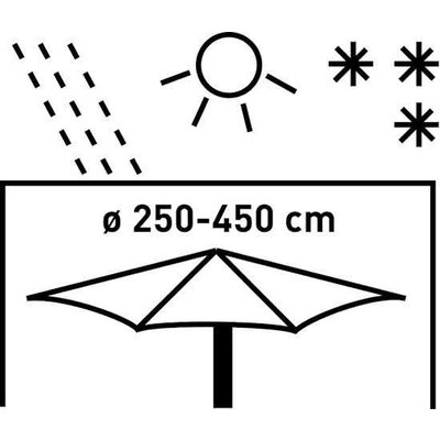All Seasons Covers / Coverit Hoes voor  rechte zweefparasol 250 cm