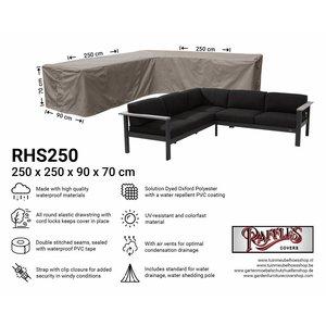 Hoes loungeset hoek, 250 x 250 x 90 H: 70 cm