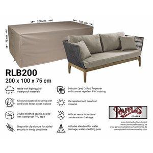 Hoes loungebank, 200 x 100 H: 75 cm
