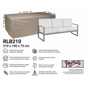 Loungebank hoes, 210 x 100 H: 75 cm