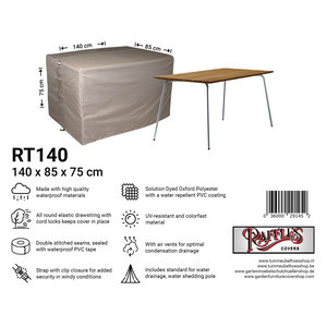 Hoes voor buiten tafel, 140 x 85 H: 75 cm