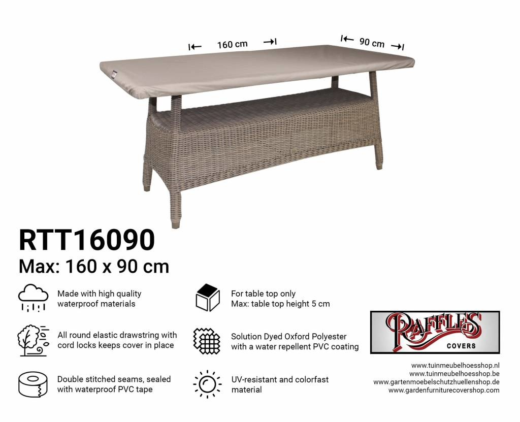 Tafelblad 160 X 90.Hoes Voor Tafelblad 160 X 90