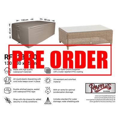 Raffles Covers !!PRE-ORDER - AFWIJKENDE LEVERTIJDEN!! Beschermhoes voor lounge table 130 x 80 H: 45 cm