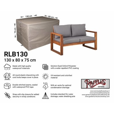 Raffles Covers !!PRE-ORDER - AFWIJKENDE LEVERTIJDEN!! Afdekhoes loungebank 130 x 80 H: 75 cm