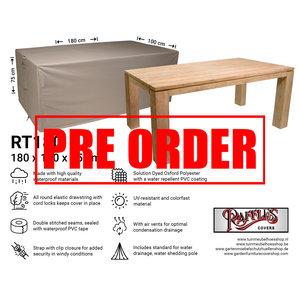 !!PRE-ORDER!! Afdekhoes tuintafel, 180 x 100 H: 75 cm