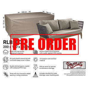 !!PRE-ORDER!! Hoes loungebank, 200 x 100 H: 75 cm