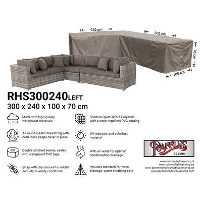 Raffles Covers !!PRE-ORDER - AFWIJKENDE LEVERTIJDEN!! Beschermhoes hoekbank 300 x 240 x 100 H: 70 cm