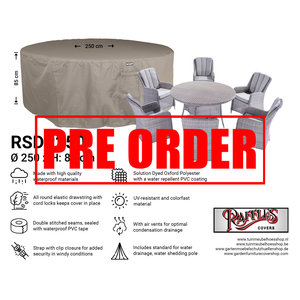 !!PRE-ORDER!! Ronde tuinsethoes, Ø: 250 H: 85 cm