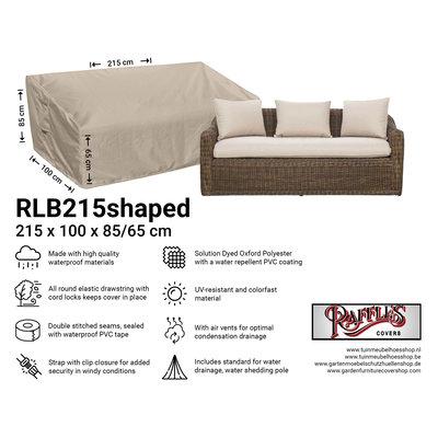 Raffles Covers !!PRE-ORDER - AFWIJKENDE LEVERTIJDEN!! Hoes voor loungebank 215 x 100 H: 85 / 65 cm