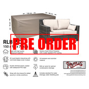 Raffles Covers !!PRE-ORDER - AFWIJKENDE LEVERTIJDEN!! Tuinhoes voor loungebank 150 x 90 H: 75 cm