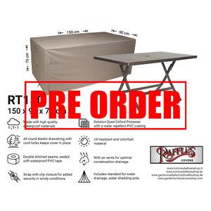 !!PRE-ORDER!! Tuintafel beschermhoes, 150 x 90 H: 75 cm