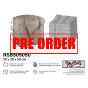 Raffles Covers !!PRE-ORDER - AFWIJKENDE LEVERTIJDEN!! Opbergtas loungekussens 50 x 50 H: 50 cm