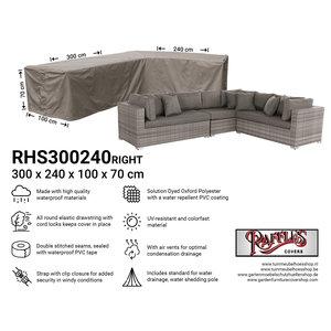 Loungesethoes voor hoekopstelling, 300 x 240 x 100 H: 70 cm