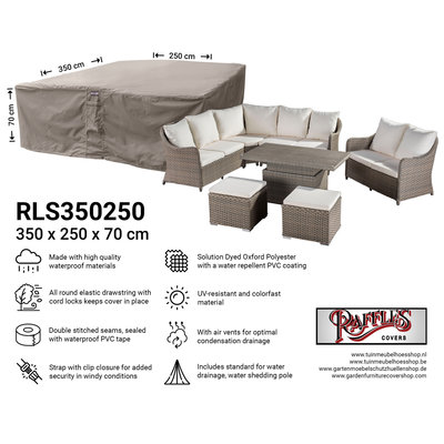 Raffles Covers Afdekhoes loungeset 350 x 250 H: 70 cm
