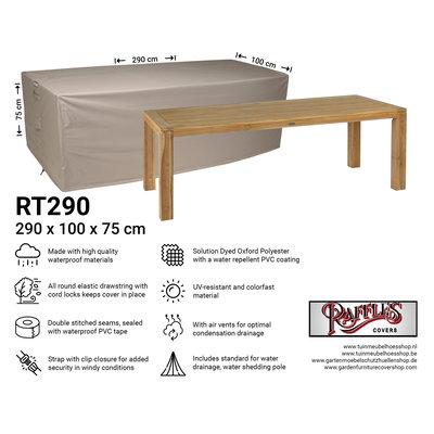 Raffles Covers Afdekhoes tuintafel 290 x 100 H: 75 cm