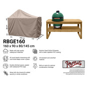 Raffles Covers Afdekhoes voor Big Green Egg barbecue 160 x 90 H: 80 / 145 cm