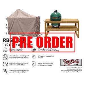 !!PRE-ORDER!! Afdekhoes voor Big Green Egg barbecue, 160 x 90 H: 80 / 145 cm