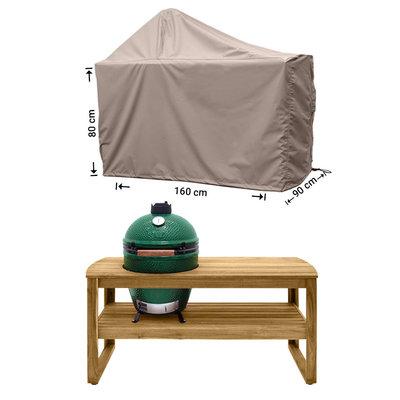 Raffles Covers !!PRE-ORDER - AFWIJKENDE LEVERTIJDEN!! Afdekhoes voor Big Green Egg barbecue 160 x 90 H: 80 / 145 cm
