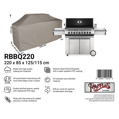 Raffles Covers Beschermhoes buitenkeuken 220 x 85 H: 125 / 115 cm