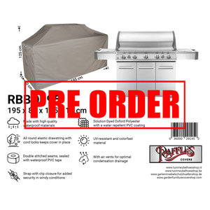 !!PRE-ORDER!! Barbecue afdekhoes, 195 x 80 H: 125 / 115 cm
