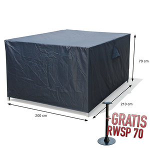 Hoes voor complete loungeset, 210 x 200 H: 70 cm
