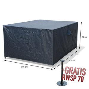 Hoes voor loungemeubelen, 305 x 305 H: 70 cm