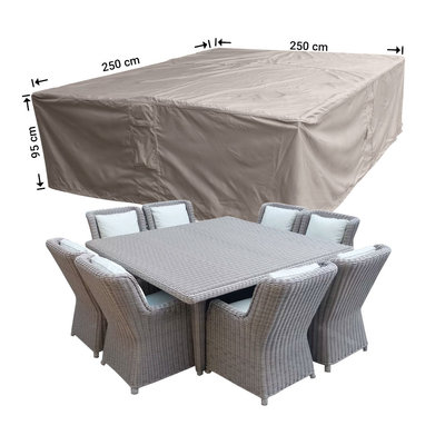 Raffles Covers Vierkante lougesethoes 250 x 250 H: 95 cm