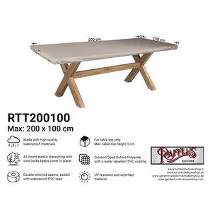 Hoes voor tafelblad tuintafel, 200 x 100 cm