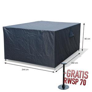 Hoes voor gehele tuinsalon, 302 x 244 H: 80 cm