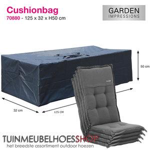 Kussentas voor hoge rugkussens, 125 x 50 H: 32 cm