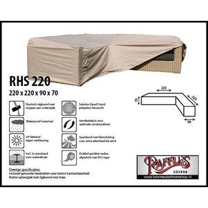 Hoes voor loungeset hoekbank, 220 x 220 x 90 H: 70 cm