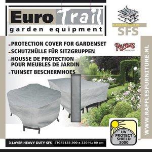 Beschermhoes voor rechthoekige tuinset, 300 x 175 H: 80 cm