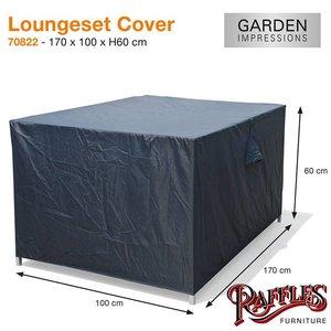 Loungebank beschermhoes, 170 x 100 H: 60 cm