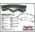 Raffles Covers Beschermhoes loungeset hoekbank hoog, 275 x 215 x 95, H: 100 / 65 cm