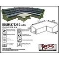 Raffles Covers Hoes lounge diningset hoekopstelling, 275 x 215 x 95, H: 100 / 65 cm