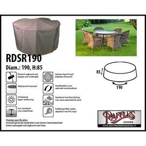 Hoes voor ronde tafel met stoelen, Ø 190 cm H: 85 cm