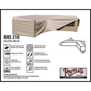 Beschermhoes voor een lounge hoekbank, 310 x 310 x 100 H: 70 cm