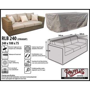 Hoes loungebank, 240 x 100 H: 75 cm