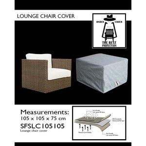 Hoes voor loungstoel, 105 x 105 H: 75 cm.