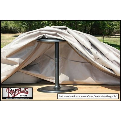 Raffles Covers Afdekhoes hoekbank hoge rug, rechts langer 310 x 255 x 95, H: 100 / 65 cm