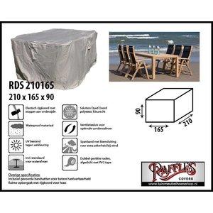 Tuinmeubelhoes voor eettafel en stoelen, 210 x 165 H: 90 cm