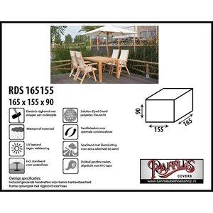 Afdekhoes voor tafel en stoelen, 165 x 155 H: 90 cm